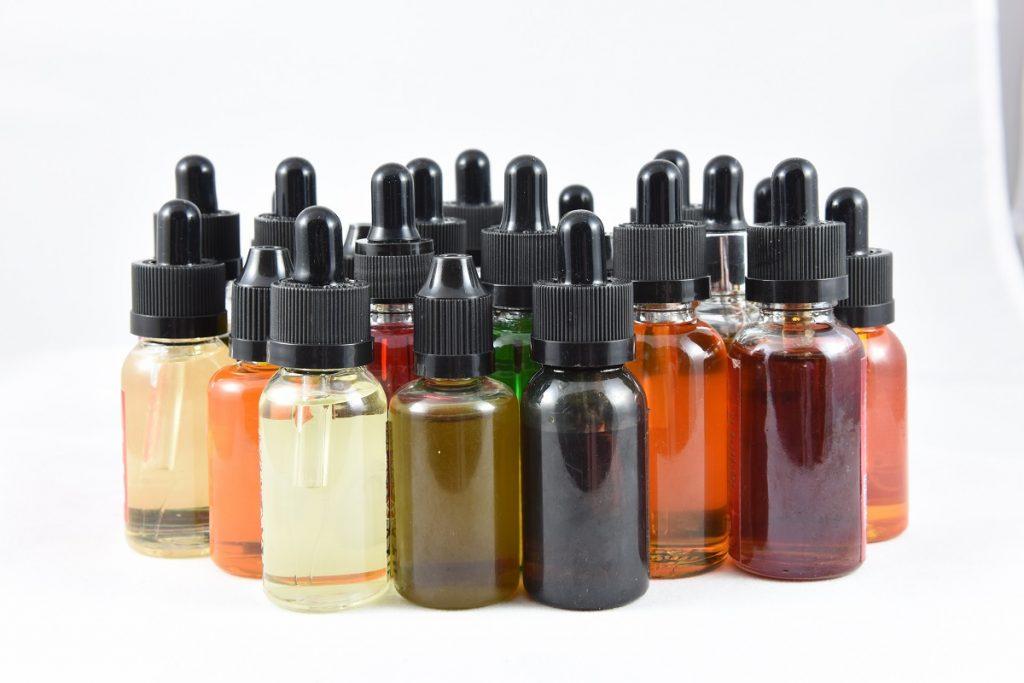 Different flavors of vape juice