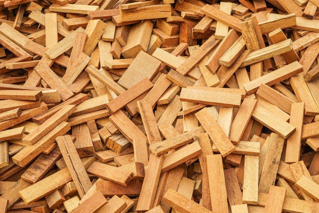 Pile of wood waste