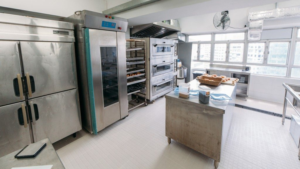 food cabinets in a kitchen