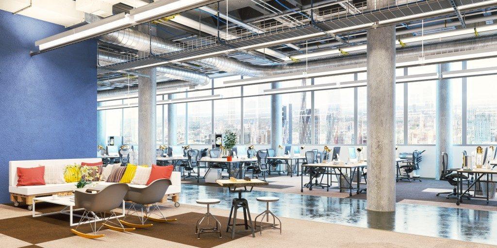 interior design of an office