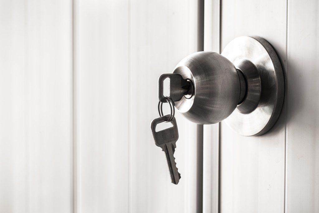 Key in a doorknob