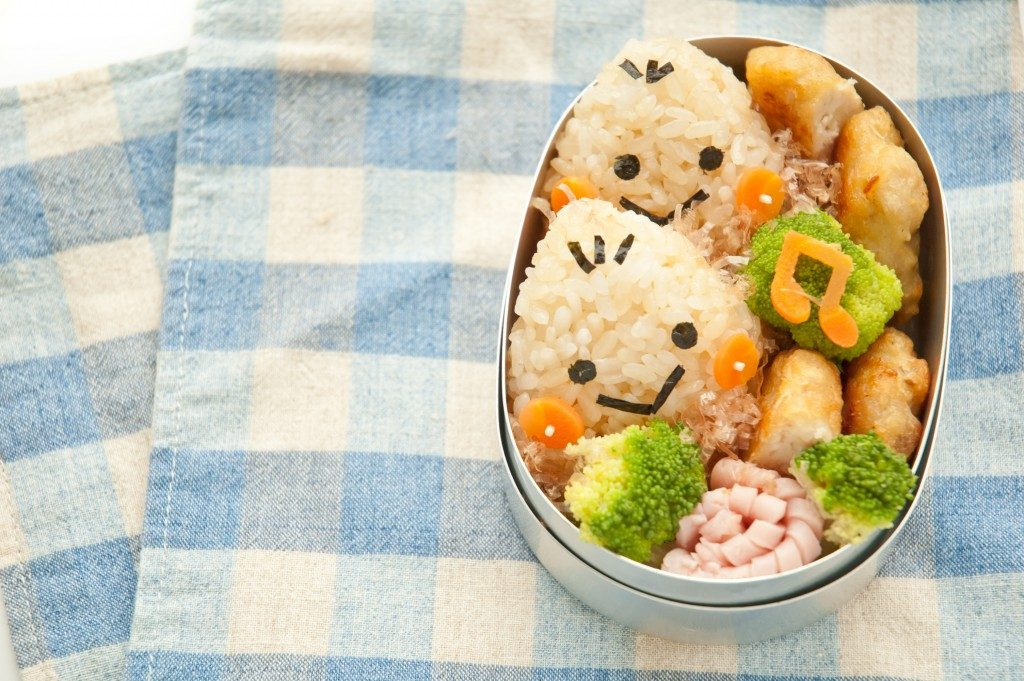 Japanese bento box or launch meal for kids