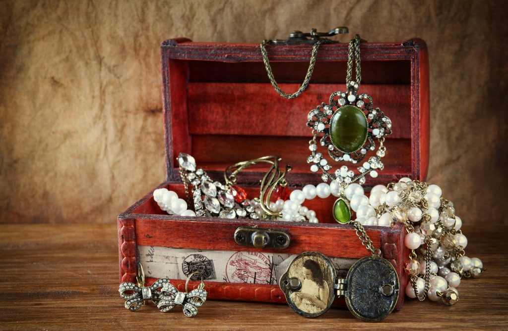 Treasure box of jewelry