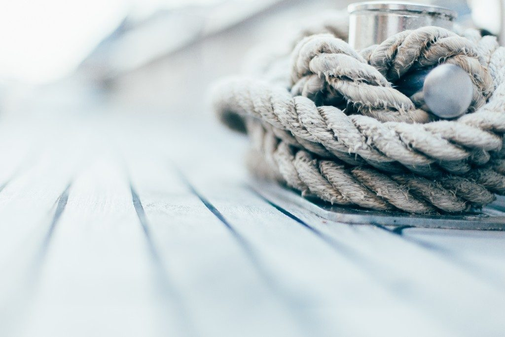 rope knot on a boat