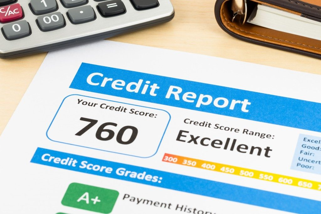 credit report score on paper
