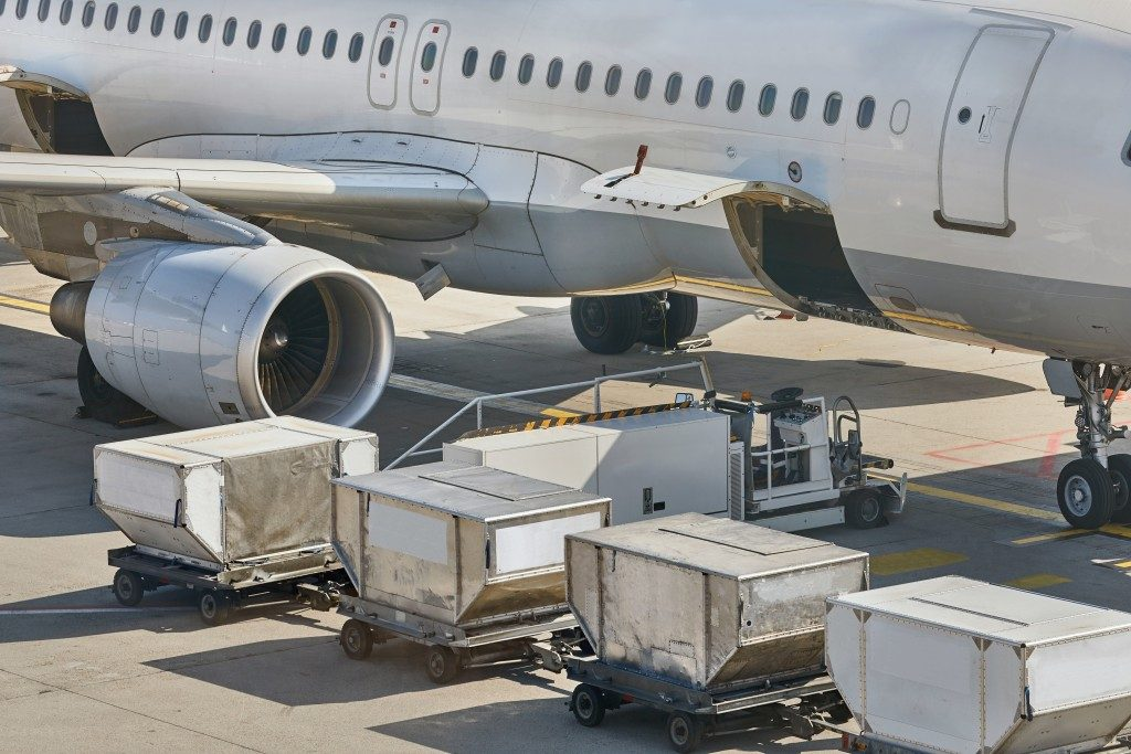 loading airplane with cargo