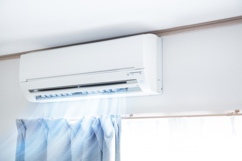 air conditioner releasing cool air