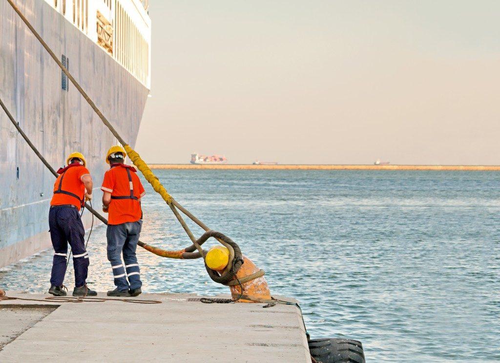 marine workers