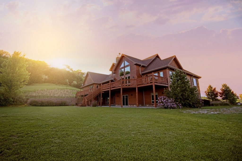 wooden mansion
