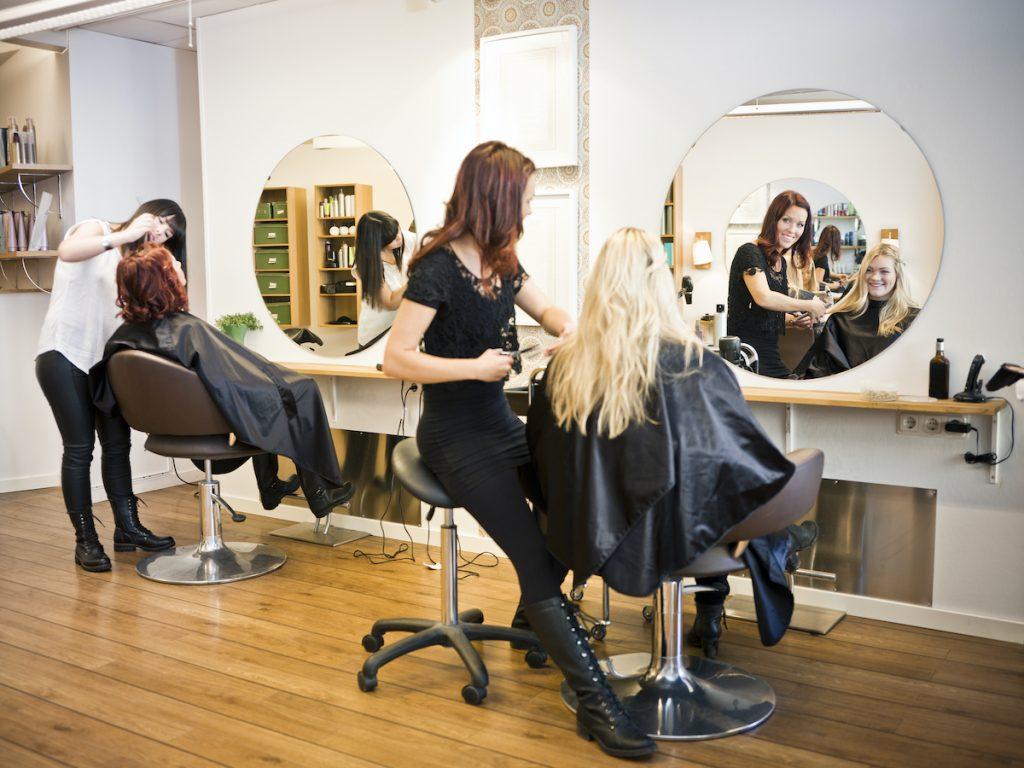 women at the salon