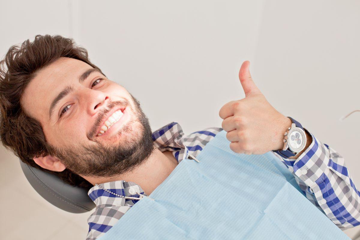 man at dentists