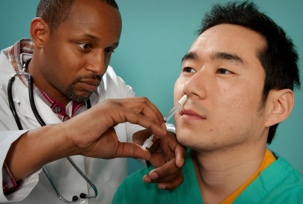 man having a checking up